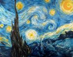 A Starry Night at Hogwarts by kuiwi