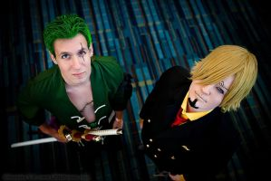 Zoro and Sanji (Timeskip) 2 - Animazement 2013 by kiokukaiba