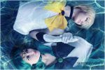 Sailor Uranus and Sailor Neptun by Vaishravana