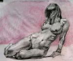 Compressed charcoal figure sketch by roy-p