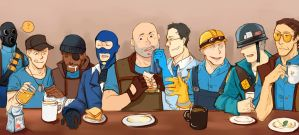 blue team's breakfast by sfheibai