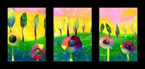 Color Wheel Flowers by jenthestrawberry