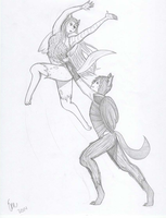 Dance In The Air #2 by Gameraider100