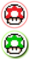 Mario shrooms by Closet-Lurker