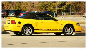 Yellow Mustang Convertible by TheMan268