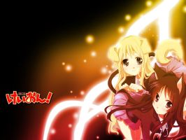 Mio and Mugi- K-ON Wallpaper by AlexTHF