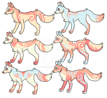 {OPEN} CHEAP Pallette Fox/Canine Adoptables by p-a-s-t-e-l-Candy