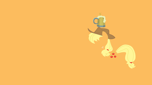 Applejack's Cider Minimalist Wallpaper by CHOCLatier07