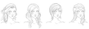 The many hairstyles of Zara by ambientblue
