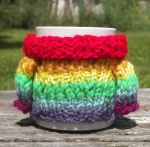 Mabel Sweater Mug Cosy - Rainbow by TheSweaterProject