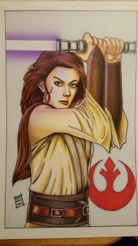 Jaina Solo Copic Sketch by sithlord151