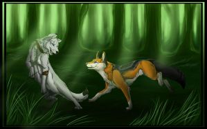 Commission: Armonkyi and Lobo by DeyVarah