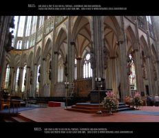 Cologne cathedral interior 11 by Mithgariel-stock