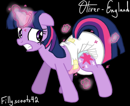 Twilight Sparkle in Diapers (Magic Spell) by Oliver-England