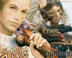 FFXII Balthier+Fran Wallpaper by Nightwulff