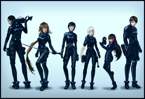 OC GANTZ Team ver2 by dCTb