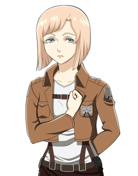Attack on Titan OC: Lina Muller by AvacadoLove