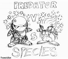 Predator Vs Species Chibis by peanutchan