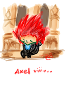 Axel alone by goldenblueviolets