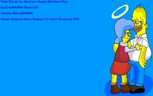 Happy Mothers Day Homer Simpson and his mother by DarkraDx