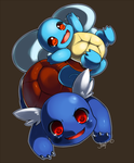 Squirtle and Wartortle by Jiayi