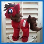 My little Pony Plush commission GLITCH by CINNAMON-STITCH