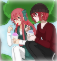 Elfen Lied-Eating Ice Together by TFAfangirl14