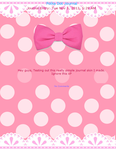 Pink Polka Dot Journal - Free to use by Kitturr