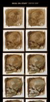 Skull oil study III, step by step. by JeffStahl