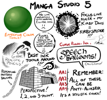 Manga Studio 5 Brushes by lapinbeau