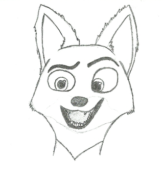 Nick Wilde sketch by theeagu