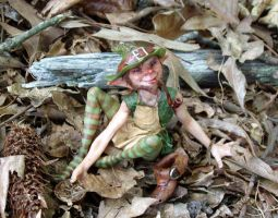 Shamus a Leprechaun sculpture by pixiwillow