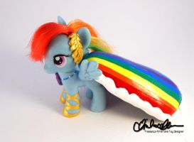 Suited for Success Rainbow Dash custom MLP by thatg33kgirl