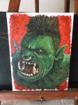 Ogre Acrylic Painting by RawArt3d