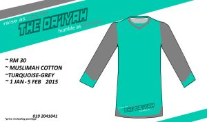 t-shirt The Daieyah Turquoise-Grey by sperxia