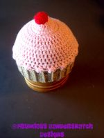 Crochet 3-D Cupcake Hat V1 by NightsMemories