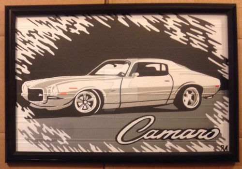 '70 Camaro Duct Tape Art by DuctTapeDesigns