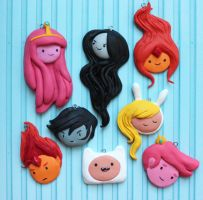 Adventure Time Charms by polkamusic