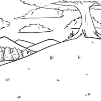 Free Summer Background Lineart. by psykii