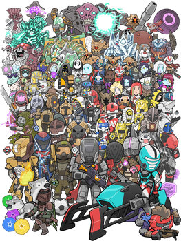 2016 Bungie 25th Anniversary Destiny Poster by KevinRaganit