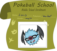 Pokeball school-Lens the Woobat by Xxcandywater-fallsxX