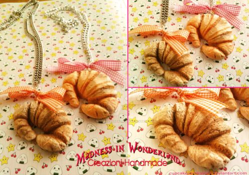 The morning has croissants in its mouth! by Cupcakesarekawaii