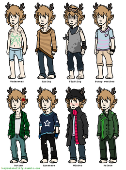 Many outfits of a Fauwn by foryouistellify