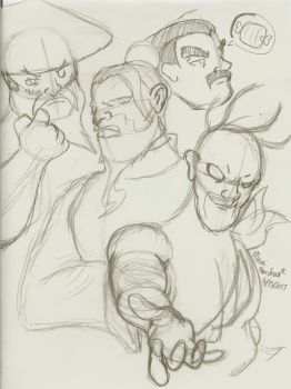 Old People from Street Fighter by Mesa-Gordeau