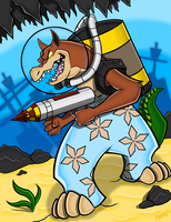 ROCKET LAUNCHIN' DINGODILE by Enigmatic-Wolf
