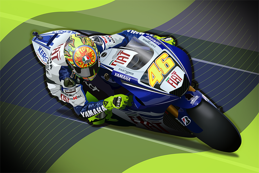 Valentino Rossi by LyriquidPerfection
