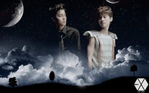 kai and luhan wallpaper by KpopGurl