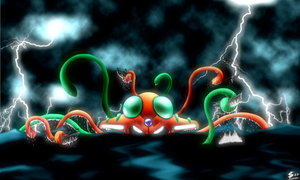 Infected Tentacruel -I.Series- by Esepibe