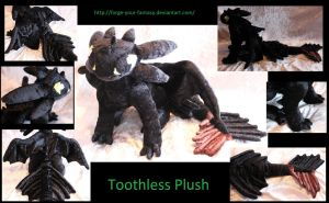 Toothless Plush - Commission by Forge-Your-Fantasy