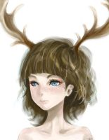 Deer Girl by color-sekai